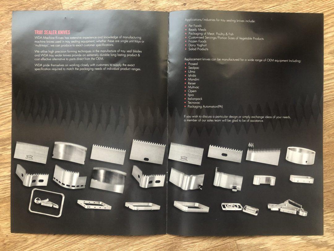 WDA Machine Knives - Product Photography Brochure